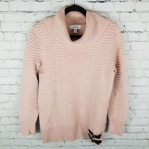 CALVIN KLEIN   thick knit cowl funnel neck sweater